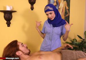 Jericha Jem: Arabian Hijab Handjob - Mean Massage