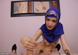 Jericha Jem - Hijab Handjob POV - ClubTug
