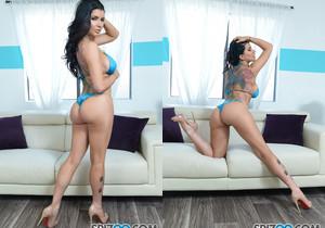 Romi Rain Bikini Blowjob POV - Spizoo