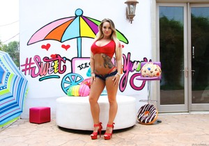 Cali Carter - Fat Boner Straight Up Cali's Big Butt
