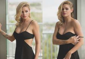 Jessa Rhodes - Naked Under A Sexy Black Dress