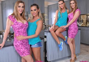 Sandy And Tanya Tate Kitchen Counter Lesbian Sex