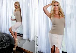 Briana Banks In Sexy Window Strip