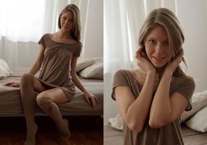 TeenDreams - Anjelica has brown stockings on