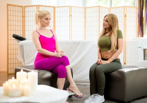 Charlotte Stokely, Kayla Kayden - Test Massage