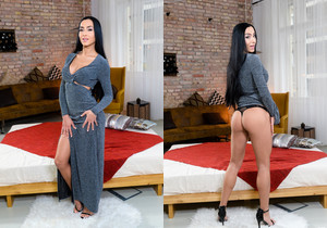Denisa Deen - Raven Haired Denisa Takes It All - 21Sextury