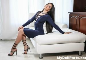 Kayla Jane Danger takes off her blue dress - My Doll Parts