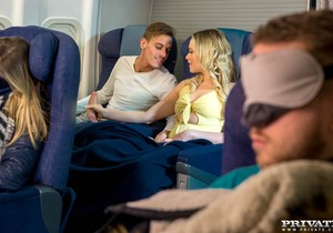 Mia Malkova, debuts for Private by fucking on a plane