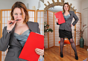 Amber West - Office Play - Anilos