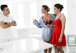 Cherie DeVille, Valentina Nappi - My Husband Can't Find Out!