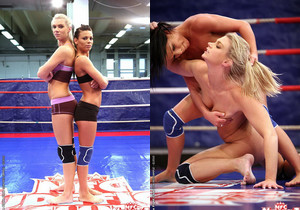 Ally & Melane - Wrestling Girls - Nude Fight Club