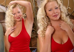 Jacy Andrews - Red Skirt - Anilos