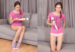 Mia Reese magic wand action - Nubiles