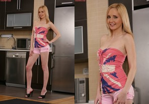 Alice Boom - blonde getting nasty in the kitchen