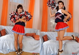Anna Tatu - naughty cheerleader shows her feet
