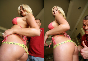 Stacy - Big Blonde Ass - 40 Inch Plus