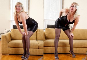 Katya Gannau - Sexy Mature In Leather