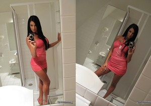 Ashley Bulgari Bathroom Selfies