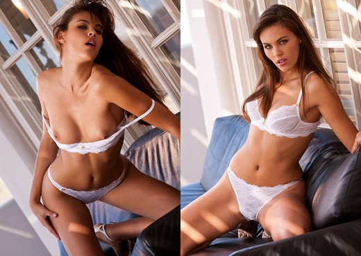 Victoria Valmer Rips Out Of Her Clothes At Record Speed - Solo Nude Pics
