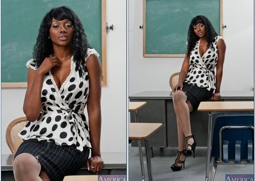 Nyomi Banxxx - My First Sex Teacher - Ebony Nude Pics