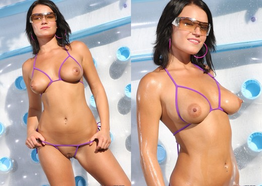 Devi Emmerson - Purple Crotchless Bikini - Solo Sexy Photo Gallery
