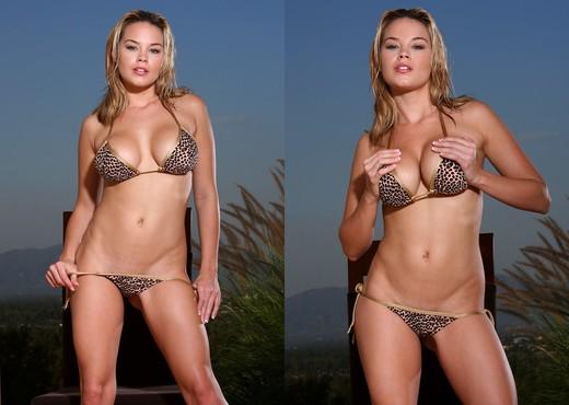 Brea Lynn - Leopard Print Thong Bikini - Solo Sexy Photo Gallery