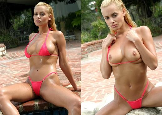 Zdenka Podkapova - Pink Micro Bikini - Solo Nude Pics