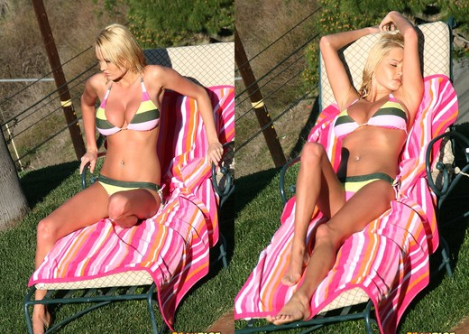 Hannah Hilton - Nude Sunbathing - Solo TGP