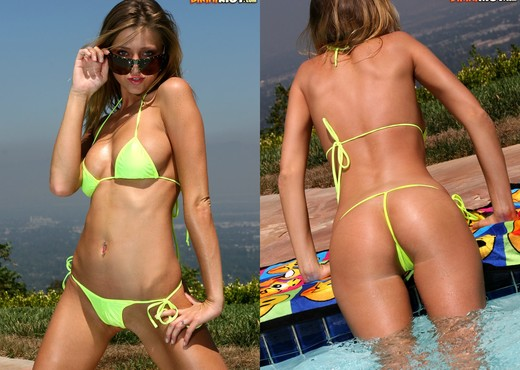 Carli Banks - Neon Micro Bikini - Solo Sexy Photo Gallery