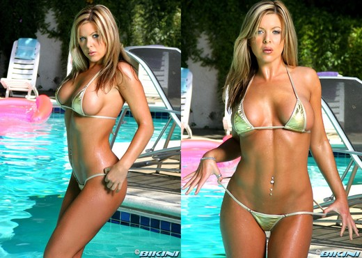 Christine Vinson - Gold Thong - Solo Hot Gallery