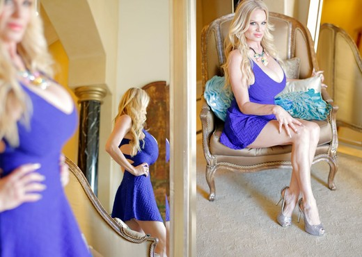 Blue Dress Desire - Kelly Madison - MILF Nude Gallery