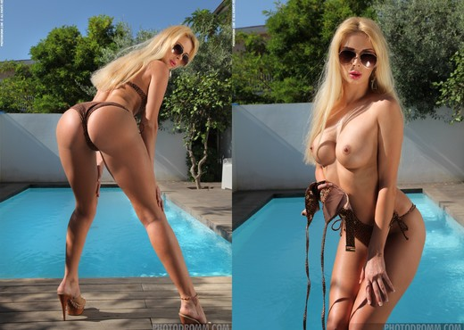 Stevie - Swimming The Pool - PhotoDromm - Solo Nude Gallery