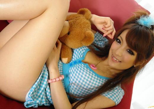 Aiko Nagai Asian babe in sexy dress sucks hard cock - Asian Porn Gallery