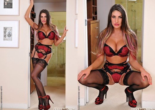 August Ames - August in stockings - Footsie Babes - Hardcore Picture Gallery