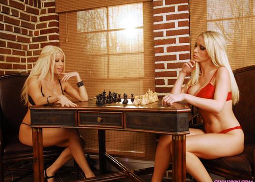Gina Lynn & Nikki Benz - chess game - Lesbian Image Gallery