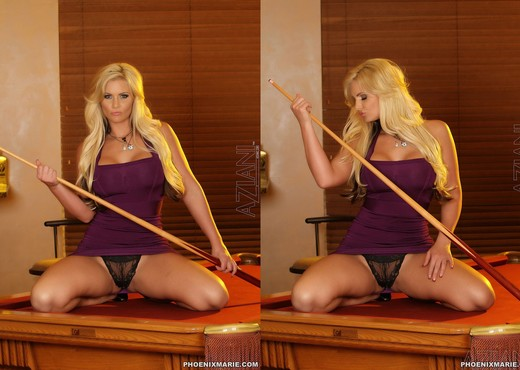 Phoenix Marie - Pornstar Riding a Pool Table - Solo Sexy Photo Gallery