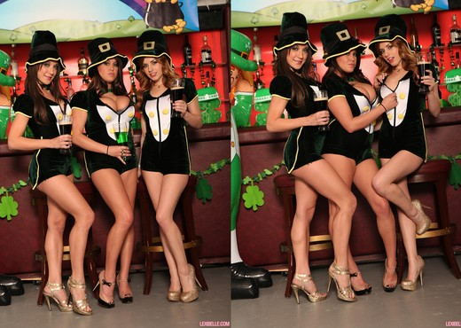 Lexi, Brandy and Amy - Group Sex for St. Patrick's - Hardcore Image Gallery