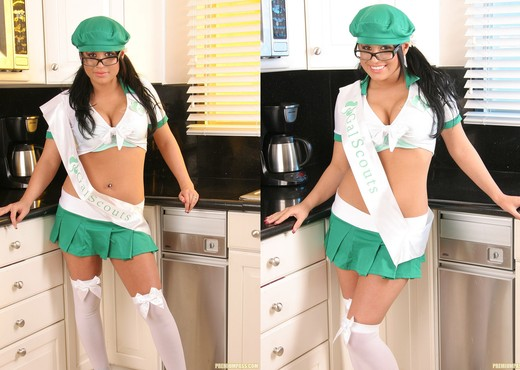 Eva Angelina Horny in Her Gal Scouts Uniform - Pornstars Picture Gallery