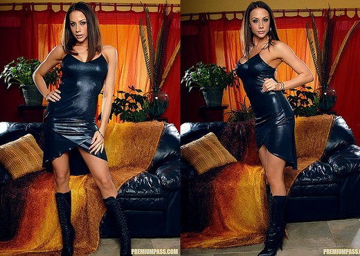 Chanel Preston - Black Dress and Wet Toys - Pornstars Hot Gallery