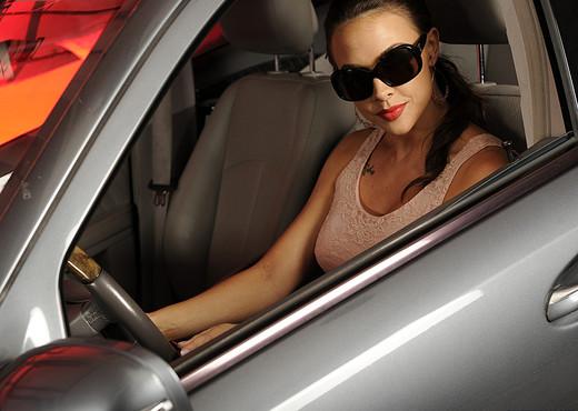 Chanel Preston Masturbating in the Driver's Seat - Pornstars Porn Gallery