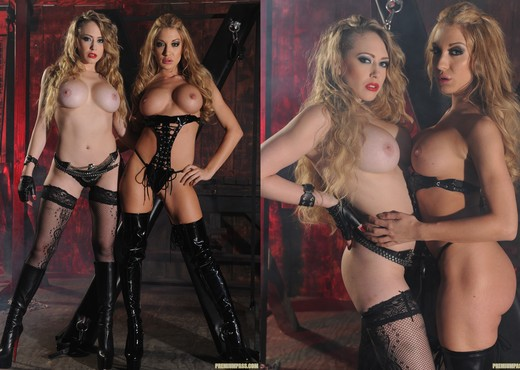 Kagney Linn Karter and Amy Brooke Get Nasty in the Dungeon - Lesbian TGP