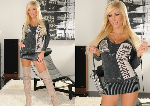Tasha Reign Wearing Nothing but Thigh-High Boots - Solo TGP