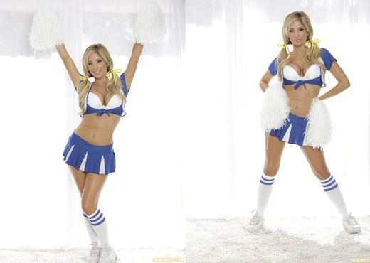 Tasha Reign - Big Breasts and Pom Poms - Solo Nude Gallery