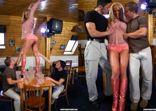 Euro Slut Judy Blond Gets Double Fucked And Facialized - Hardcore Sexy Gallery