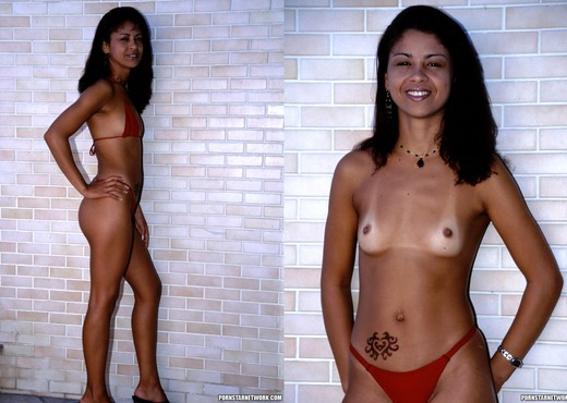 Josie - 18 to 21 year old Brunette in a 2 on 1 - Interracial HD Gallery