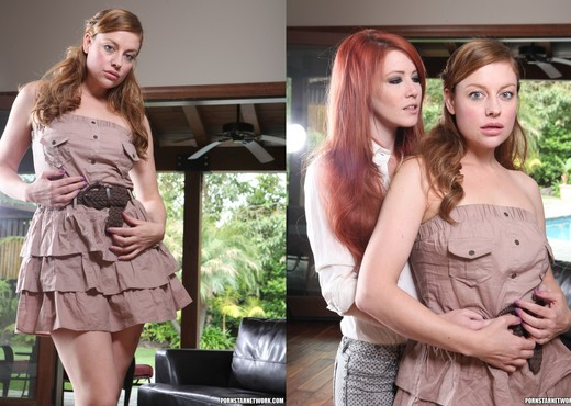 Elle Alexandra and Sovereign Syre Get Close - Lesbian Sexy Photo Gallery