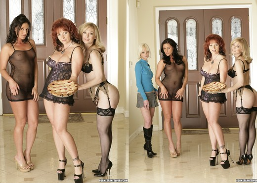 Lola, Kylie Ireland and Nina Hartley in Lingerie - Solo Image Gallery