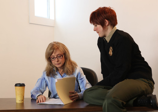 Lily Cade, Lotus Lain, and Nina Hartley - Training Meeting - Lesbian Picture Gallery