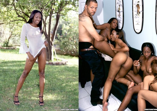 Angel, Ebony, Sydnee, Ice, and More - Ebony Nude Gallery