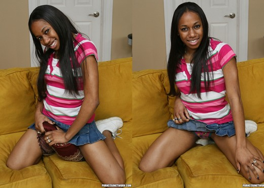 Mocha Love Found a Man in Her Size - Ebony Sexy Photo Gallery